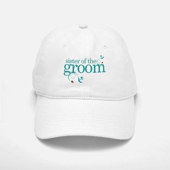 Sister of the Groom Swirl Baseball Baseball Cap
