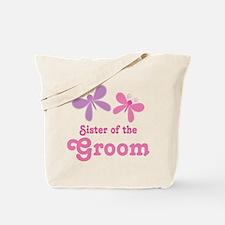 Sister of the Groom Butterflies Tote Bag