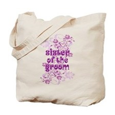 Sister of the Groom Swirl Tote Bag