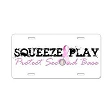 Squeeze Play Aluminum License Plate