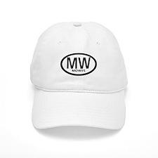 Midwife Black Oval Baseball Cap