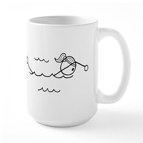 Swim Girl Black No Words Large Mug