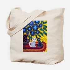 Cute White cat Tote Bag