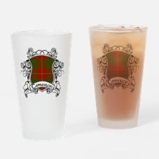 Cameron Tartan Shield Drinking Glass