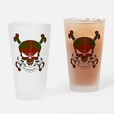 Cameron Tartan Skull Drinking Glass