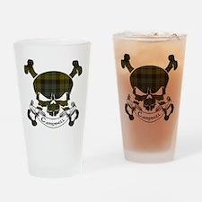 Campbell Tartan Skull Drinking Glass