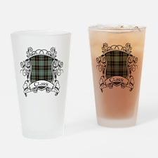 Clark Tartan Shield Drinking Glass