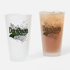 Davidson Tartan Grunge Drinking Glass