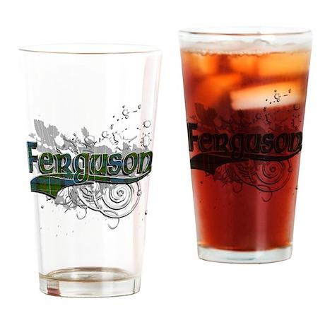 Ferguson Tartan Grunge Drinking Glass