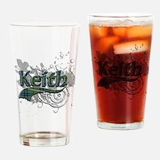 Keith Tartan Grunge Drinking Glass