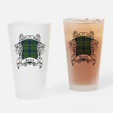 Keith Tartan Shield Drinking Glass