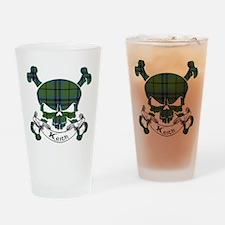 Keith Tartan Skull Drinking Glass