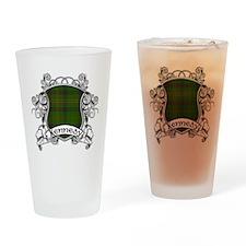 Kennedy Tartan Shield Drinking Glass
