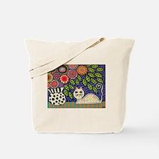 Unique Feline art Tote Bag