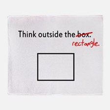 Think Outside The Box (Rectan Throw Blanket