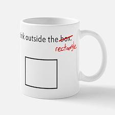 Think Outside The Box (Rectan Mug