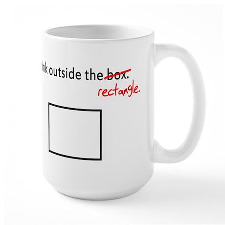 Think Outside The Box (Rectan Large Mug