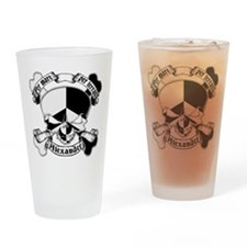 Alexander Family Crest Skull Pint Glass