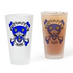 Ashby Family Crest Skull Pint Glass