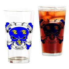Aubrey Family Crest Skull Pint Glass