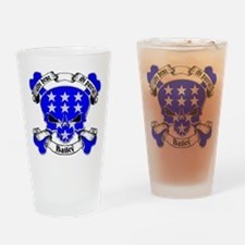 Bailey Family Crest Skull Pint Glass
