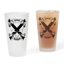 Baldwin Family Crest Skull Pint Glass