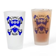 Barclay Family Crest Skull Pint Glass