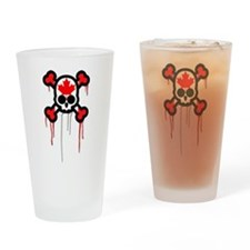 Canadian Punk Skull Pint Glass