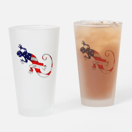 Gecko Patriotic Pint Glass