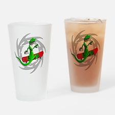 Skateboard Gecko Drinking Glass