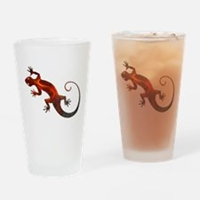 Fire Red Gecko Drinking Glass