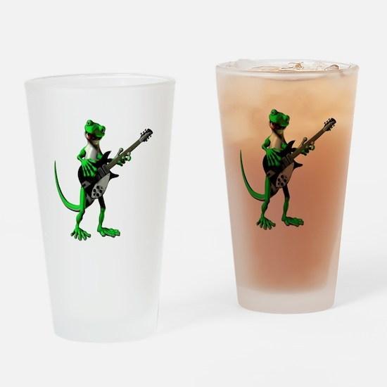 Electric Guitar Gecko Drinking Glass