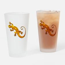 Golden Yellow Gecko Drinking Glass