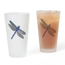Blue Dragonfly Pint Glass