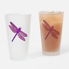 Pink Dragonfly Pint Glass