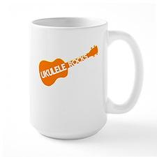 orange ukulele Mug