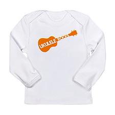 orange ukulele Long Sleeve Infant T-Shirt