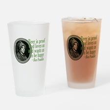 Beer, Love, God Pint Glass