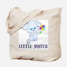 Little Sister Puppy Dog Tote Bag