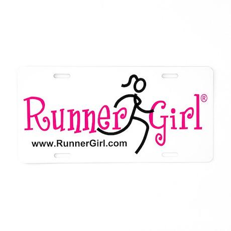 RunnerGirl Aluminum License Plate