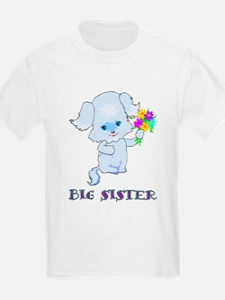 Big Sister Puppy Dog Kids T-Shirt