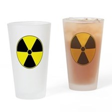 Yellow Radiation Symbol Pint Glass