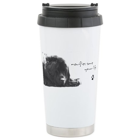 Newfies Save your Life Stainless Steel Travel Mug