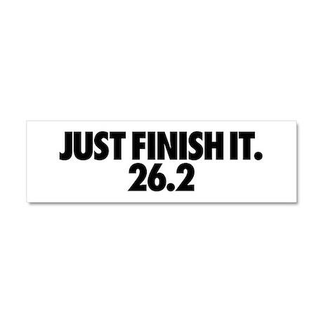 Just Finish It 26.2 Car Magnet 10 x 3