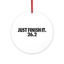 Just Finish It 26.2 Ornament (Round)