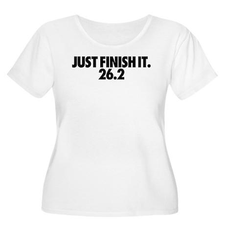 Just Finish It 26.2 Women's Plus Size Scoop Neck T