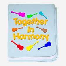 harmony ukuleles baby blanket