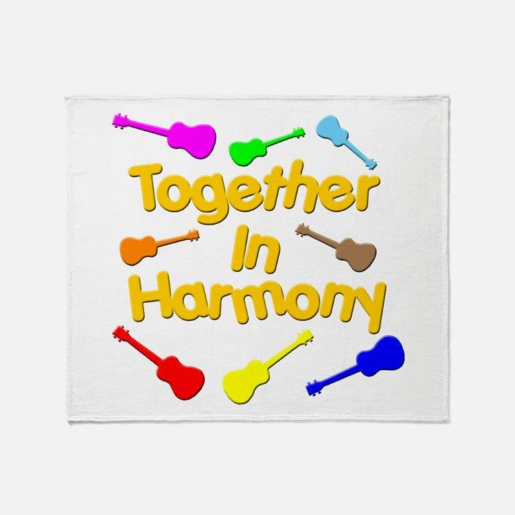 harmony ukuleles Throw Blanket