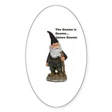 James Gnome Oval Decal