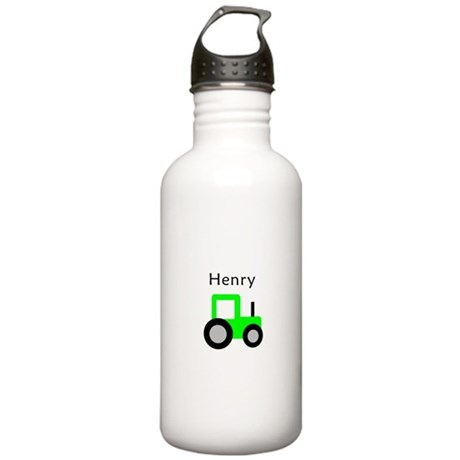 Henry - Lime Green Tractor Stainless Water Bottle